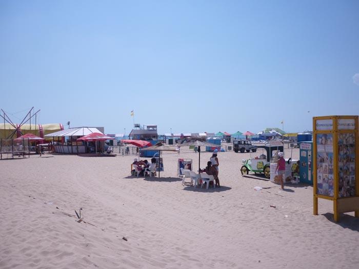 Пляж в районе улицы Светлая
